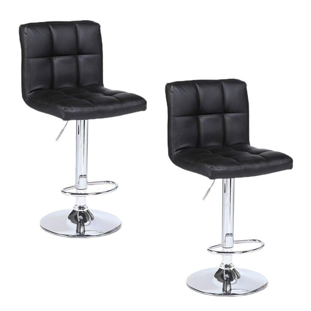 Store LLC Flexible and Folding 2 Pieces PU Leather Material Counter Swivel Bar Stool Pub Barstool Chairs Adjustable Stool