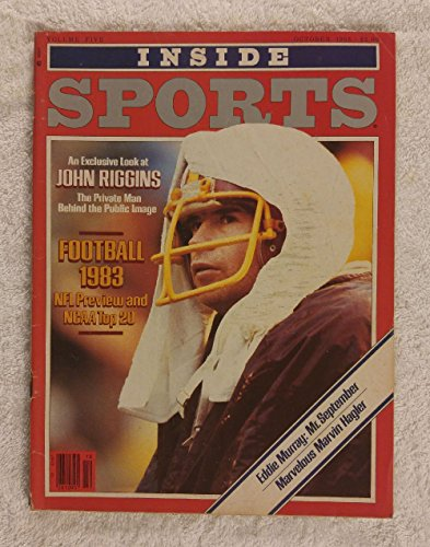 John Riggins - Washington Redskins - Inside Sports Magazine - October 1983 - Eddie Murray, Marvelous Marvin Hagler Articles