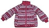 N'Ice Little Girls and Baby Sherpa Lined Fairisle Fleece Winter Jacket (3T, Fuchsia/Pink Fairisle)