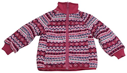 - N'Ice Little Girls and Baby Sherpa Lined Fairisle Fleece Jacket (2T, Fuchsia/Pink Fairisle)