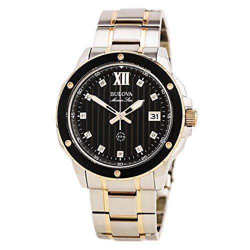 (Bulova Men's Quartz Stainless Steel Dress Watch (Model: 98D127) )