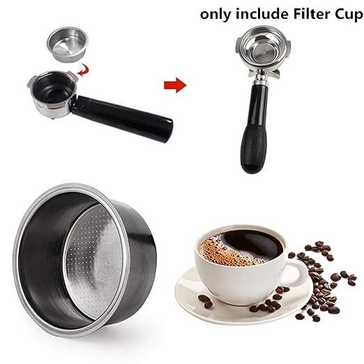 OLKD Taza de Filtro de caf/é de Acero Inoxidable 51 mm Cesta de Filtro de caf/é no presurizado para Piezas de la m/áquina de caf/é Breville Delonghi Krups