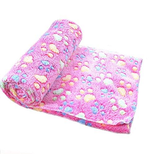 Cowboy Sleep Mat (Mikey Store Warm Pet Mat Small Large Paw Print Cat Dog Puppy Fleece Soft Blanket (Hot Pink, L))