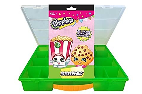 Official Shopkins Sticker Book + Mini Figures Compatible Storage Organizer. Stores Up to 100 Shopkins Mini Figures. Customize Your Children's Storage Box With This 295 Sticker - Mini Bubble Bucket