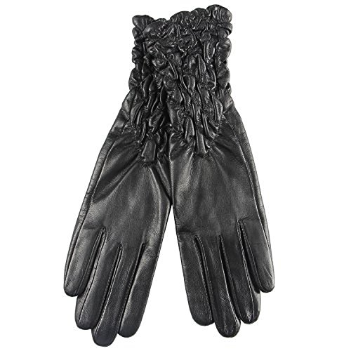 - 2015 New Classic Leather Ruched Elbow Length Long Evening Dress Gloves