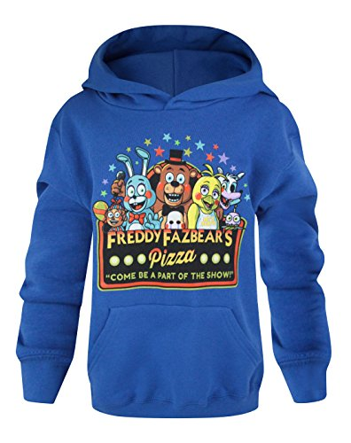 Official Five Nights At Freddy's Part Of The Show Kid's Blue Hoodie (14-15 Years)