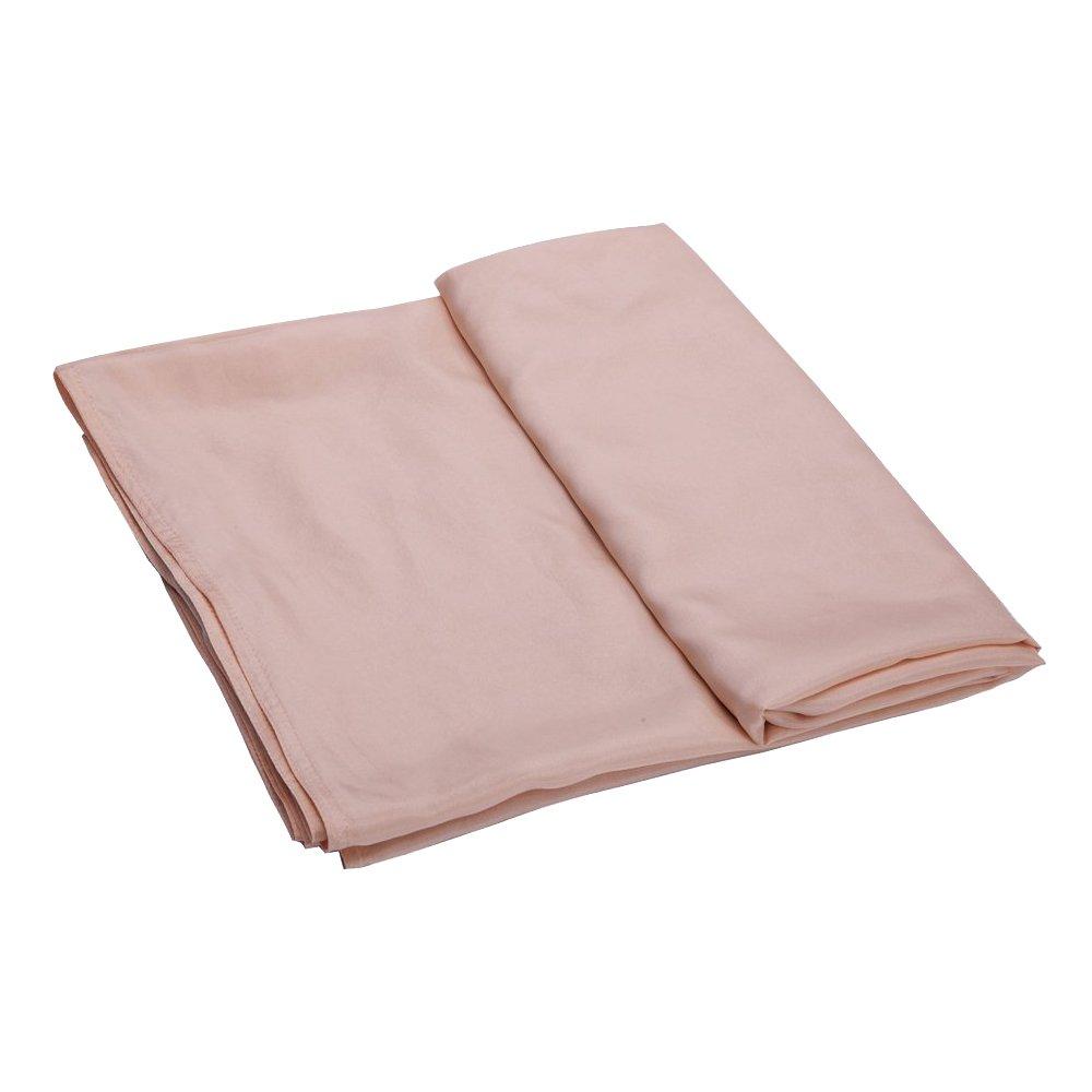 ALASKA BEAR - Natural Hoja de seda para saco de viaje saco de dormir con integrado funda de almohada, melocotón[10 momme]: Amazon.es: Deportes y aire libre