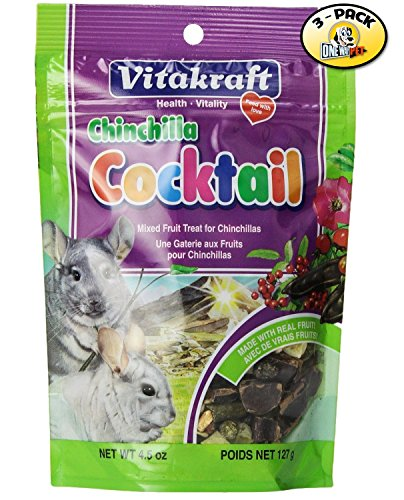 Vitakraft Chinchilla Mixed Fruit Cocktail Treat - 3 PACK
