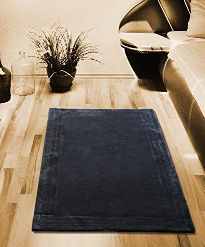 Teppich Bettvorleger Bettumrandung grau 2 mal 70 x 120 cm 100 % Baumwolle