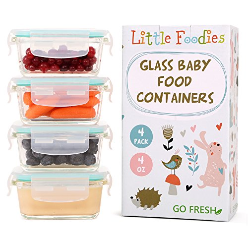 glass baby food containers 4 oz - 6