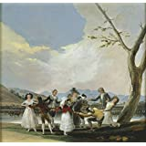 'Goya y Lucientes Francisco de Blind Man's Buff 1788 ' oil painting, 24 x 25 inch / 61 x 64 cm ,printed on polyster Canvas ,this High Resolution Art Decorative Canvas Prints is perfectly suitalbe for dining Room decor and Home decor and Gifts
