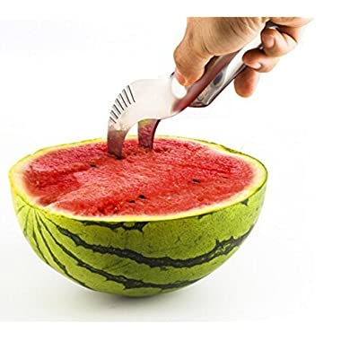 The #1 RATED Mibia Watermelon Slicer, No Mess, No Stress, Neat And Easy With Juicy Slices Of Melon, Fruit Slicer Multi-Purpose Stainless Steel, Smart Kitchen Gadget, Dishwasher Safe Kitchen Tool