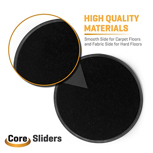 Ab Slider 2 Gliding Discs Core Sliders 7 inches for Ab Exercise Health & Fitness Cardio Home & Gym Abdominal Workout | Glide on Any Surface Best For Full Body Workout By Reppin Sports