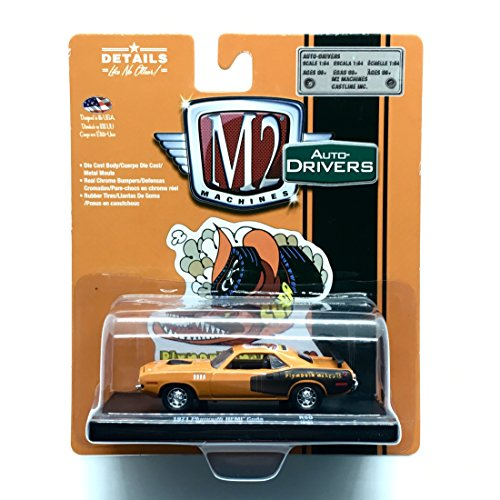 Plymouth Hemi Cuda Body - 1971 Plymouth HEMI Cuda (Tor-Red / HEMI Orange) - M2 Machines Auto-Drivers Release 50 - Castline 2018 Special Edition 1:64 Scale Die-Cast Vehicle ( R50 18-01 )