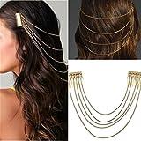 Boho Golden Hair Chains Headpiece Hair Jewellery Headband