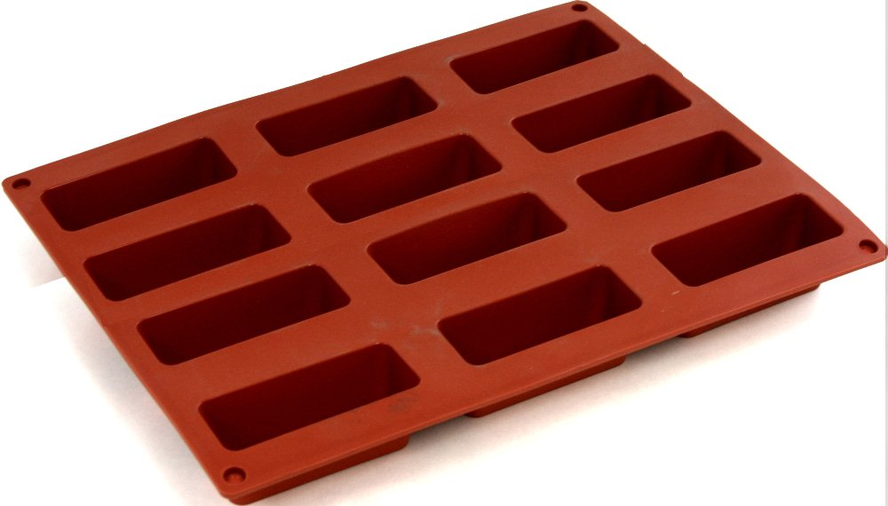 World Cuisine Non-Stick Silicone Mold, Rectangular (12)