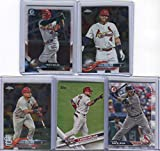 Yadier Molina St. Louis Cardinals Assorted Baseball Cards 5 Card Lot