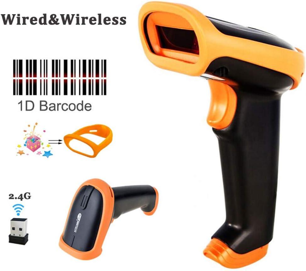 ERLIANG Escáner láser con Cable Escáner de código de Barrido inalámbrico 2.4G escáner expreso Pistola de código de Barras de supermercado Caja registradora