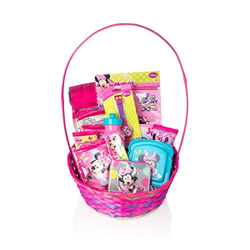 disney minnie mouse baby girls gift basket 13 pcs gift basket set for girls kids gift basket perfect for birthdays easter christmas get well