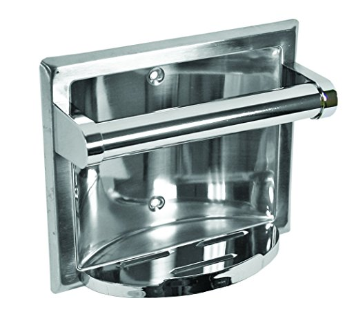 Aqua Plumb 97202 Recessed Soap Dish & Bar