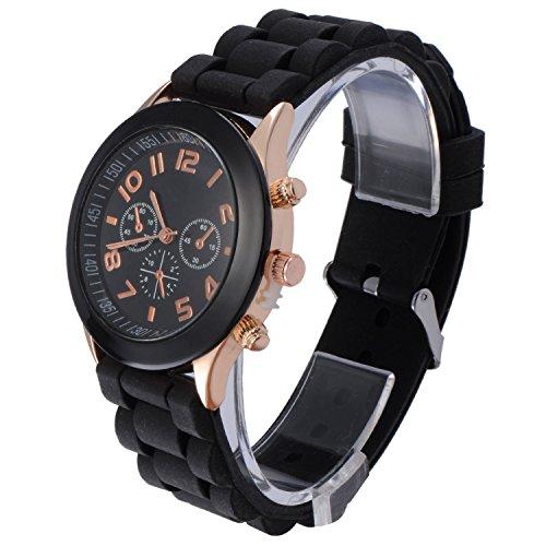 ne Quartz Men Women Girl Boy Unisex Jelly Wrist Watch ()