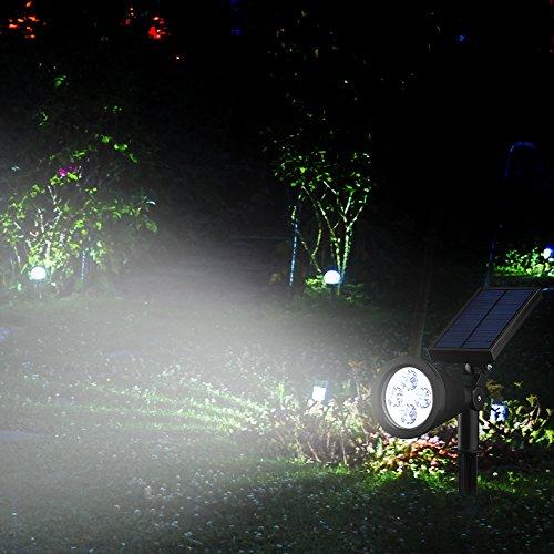 Mpow Lamps solaire 4 LED Soleil P2 Lampe Solaire Extérieure ...