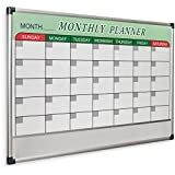 MooreCo Essential Magnetic Monthly Planner Dry Erase Whiteboard, 24''H x 36''W, (84257)