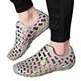 Allywit Mens Women Sandals Shower Water Shoes Beach Swim Pool River Shoes Comfort Garden Water Shoes Gray