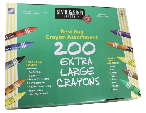 Sargent Art 200-Count Big Ones Crayon Class Pack, Best Buy Assortment, 55-3245 -  SAR553245
