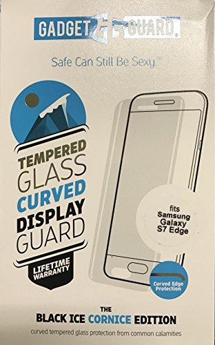 Gadget Guard Black Ice Cornice Curved Edition Tempered Glass Screen Guard For Samsung Galaxy S7 Edge - Clear by Gadget Guard