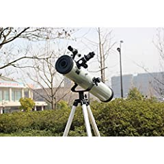Specification:  Ocular Lens: H20mm,H12.5mm,SR4mm  1.5X Diag  2x Barlow EXT  Moon filter  1.35M Aluminum tripod  Tripod tray and supporting accessories  Reflective / focal length: 700mm, Aperture: 76mm  It is able to be set as 35 times, 56 tim...