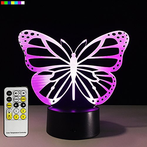 2 Speed Small Animal (Baby Night Light Butterfly 7 Colors Change with Remote Birthday Gifts for Her Girl Gifts for A Girl or Animal Lover or Baby Room Decor by Easuntec (Butterfly))