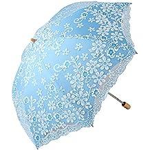 Honeystore Travel Sun Parasol Folding Brolly Anti-uv Sunshade Vintage Umbrella