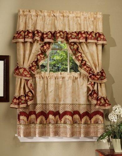 Kitchen Curtains Set Amazoncom - Cape cod kitchen curtains