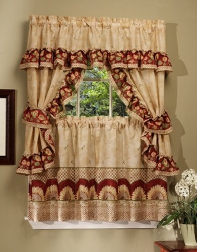Achim Home Furnishings Sunflower Cottage Set, 36-inch, Antique