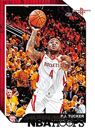 5cf4d67a4016 2018-19 NBA Hoops Basketball  151 P.J. Tucker Houston Rockets Official  Trading Card made