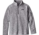 Patagonia Girls' Better Sweater Fleece Quarter Zip (S, Birch White)