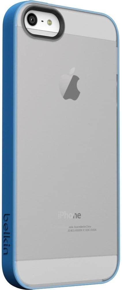 Belkin Grip Candy Sheer Case for iPhone 5 / 5S and iPhone SE (Blue and Smoke)