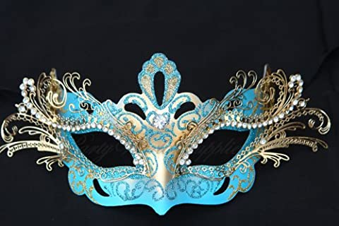 Luxury Sexy Fashion Masquerade Venetian Prom Mardi Gras Wedding Costume Spanish Quinceanera Theme Party Metal Laser Cut Eye Mask in (Prom Themes)