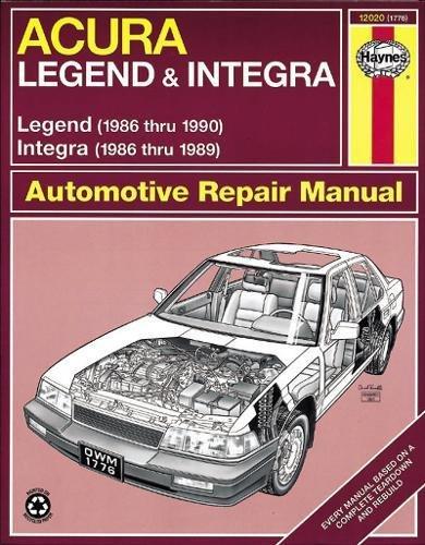 90 Acura Legend - Haynes Acura Integra (1986-1989) & Legend (1986-90)