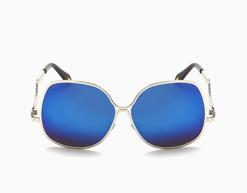 CMCL Wanderer Metall Sonnenbrille Männer und Frauen VB Farbfilm Reflektierende Große Rahmen Gezeiten Sonnenbrillen Kokons