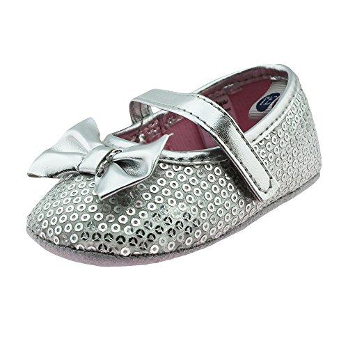 newborn silver dress shoes - 3