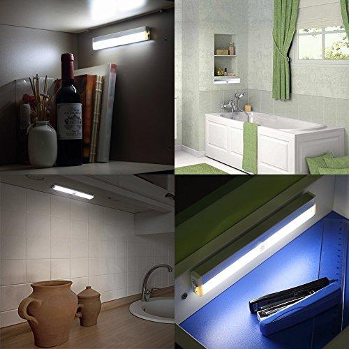 Kitchen Closet Under Cabinet Stick On 18 Led Motion Sensor: Veepeak Rechargeable 14-LED Motion Sensor Light Night