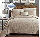 Oversized Bedspreads for King Bed Cotton World Li Quilt Set King Premium 3 Piece Oversized Bedspread Set Reversible Elegant Embroidery Bed Cover Luxury Coverlet Lightweight - Wrinkle & Fade Resistant-King/California King