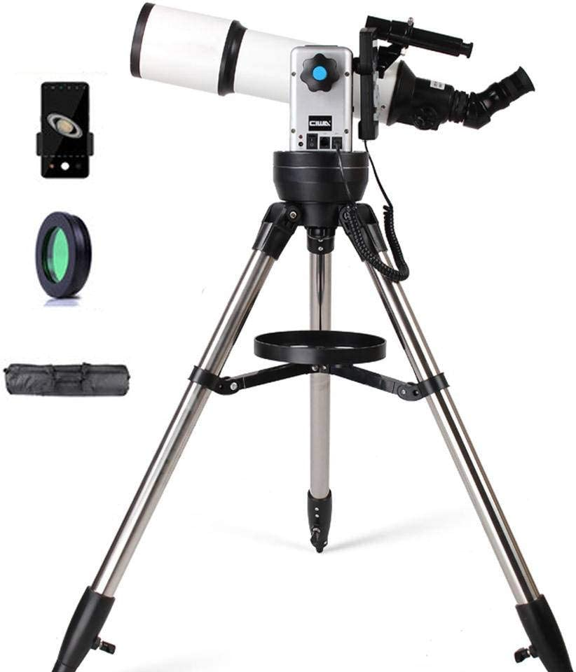 Monocular Automatic Finder Refractor Telescope with Eyepiece Finder Scope 3X Barlow Lens-90GOTO 50090 Travel Scope Adults Professional Telescope Astronomical