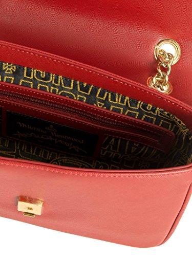 Vivienne Westwood Mujer 7065VSLRED Rojo Cuero Bolso De Hombro
