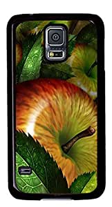 Apple fruite Masterpiece Limited Design DIY PC Black Case for Samsung Galaxy S5 I9600 by Cases & Mousepads