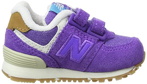 New Balance Unisex-Kinder Kv574eui M Hook and Loop Sneakers Violett (Purple)