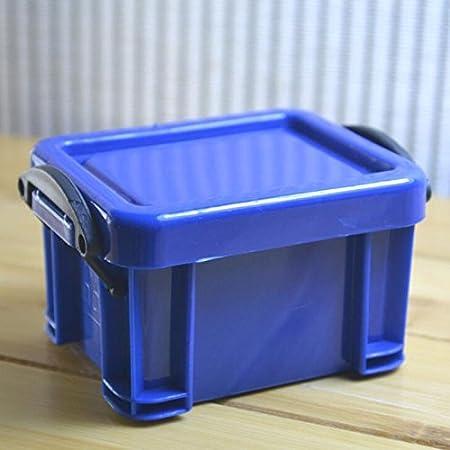 Gulin Pequeña Caja de Almacenamiento práctica, Contenedor Organizador Plástico Mini con Tapa, Caja de Almacenamiento de contenedores Organizador de plástico: Amazon.es: Hogar
