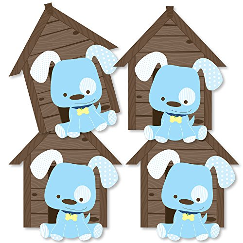 Boy Puppy Dog - Dog House Decorations DIY Baby Shower or Birthday Party Essentials - Set of -
